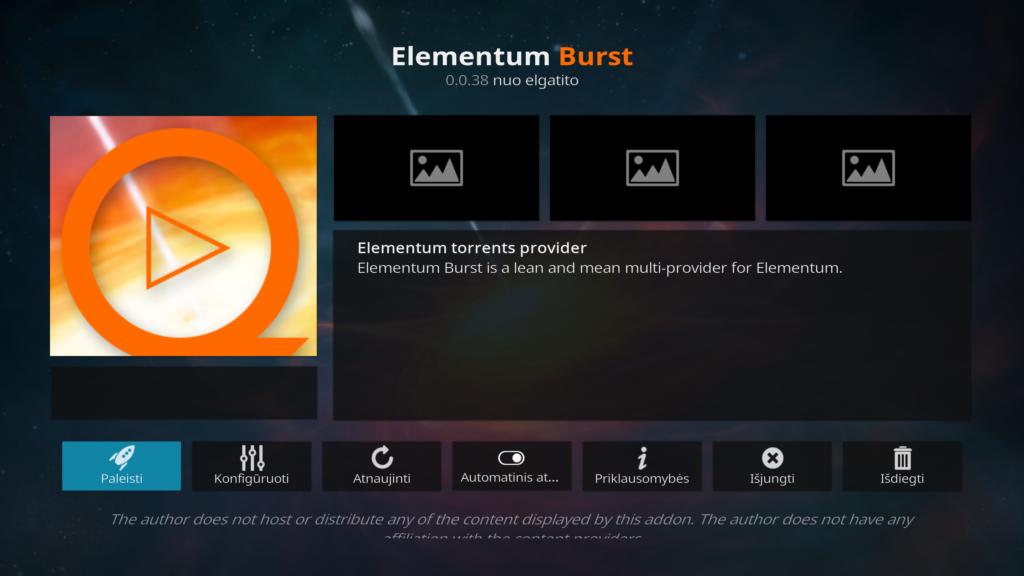 Elementum Burst